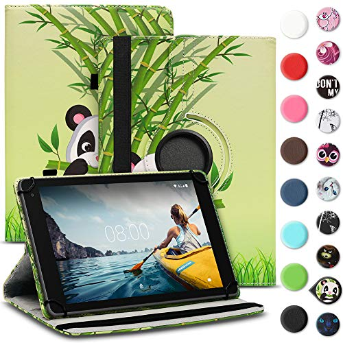 Tablet Hülle kompatibel für Medion Lifetab E6912 Tasche Schutzhülle Hülle Cover aus Kunstleder Standfunktion 360° Drehbar, Farben:Motiv 10