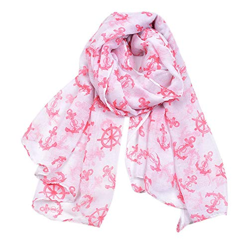 Scarf Ladies Spring Navy Wind Retro Anchor Print Balinese Scarf Shawl Beach-3