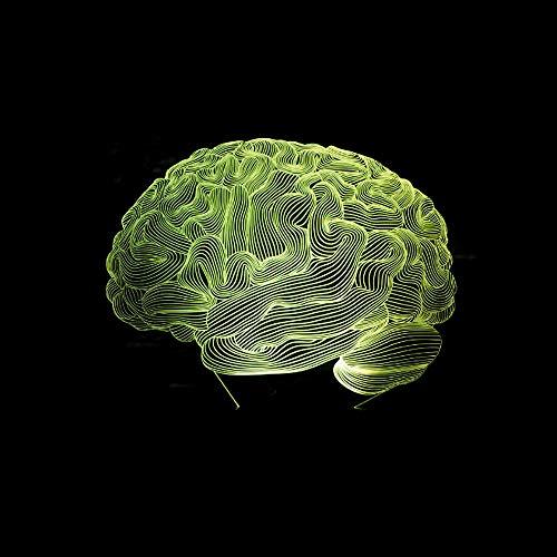 Forma Cerebral Forma De Ilusión 3D Lámpara 7 Cambio De Color Interruptor Táctil Led Luz Nocturna Acrílico Lámpara De Escritorio Atmósfera Lámpara Novedad Iluminación