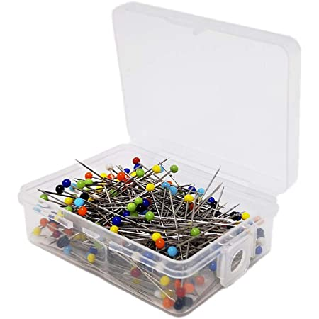 AIEX/200pcs 1.5 Inch Sewing Pins Glass Ball Multicolored Head Pins Straight for Dressmaker Jewelry Decoration Sewing Projects