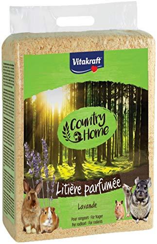 Vitakraft Copeaux - Litière parfumés à la lavande pour petits mammifères - 900gr