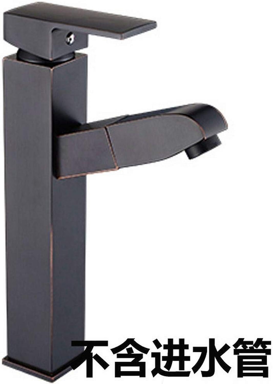 MeiqiLN Schwarz Antiken Kupfer Pull Waschtischmischer Wasserhahn Küchenarmatur Waschtischarmatur 27Cm Keine Rhre Hoch