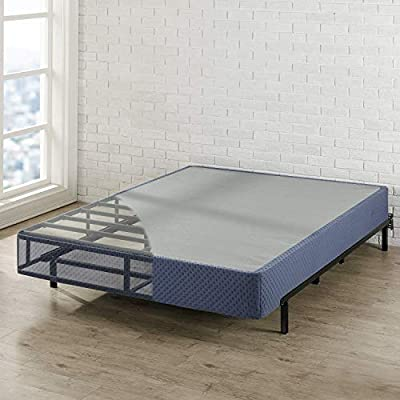 """Best Price Mattress Box Spring, 9"""" High Profile with Heavy Duty Steel Slat Mattress Foundation Fits Standard Bed Frame, Parent"""
