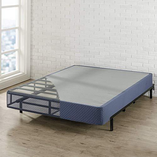 "Best Price Mattress 9"" High Profile with Heavy Duty Steel Slat Mattress Foundation Fits Standard Bed Frame, Twin, Navy"