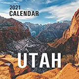"Utah: 2021 Wall Calendar - Mini Calendar, 8.5""x8.5"", 12 Months"