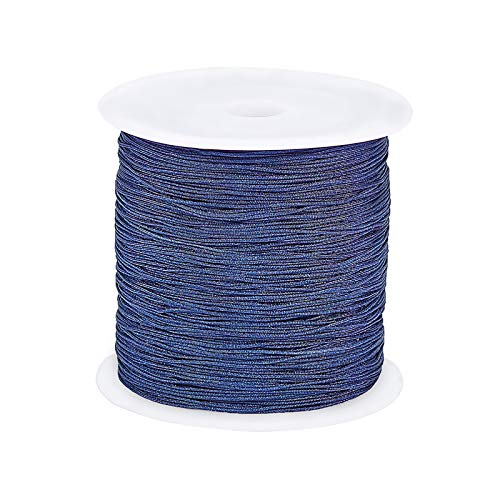 arricraft 1 Roll 150 Yards 0.5mm Nylon Cord for Chinese Knotting, Kumihimo, Beading, Macramé, Jewelry Making, Sewing- PrussianBlue