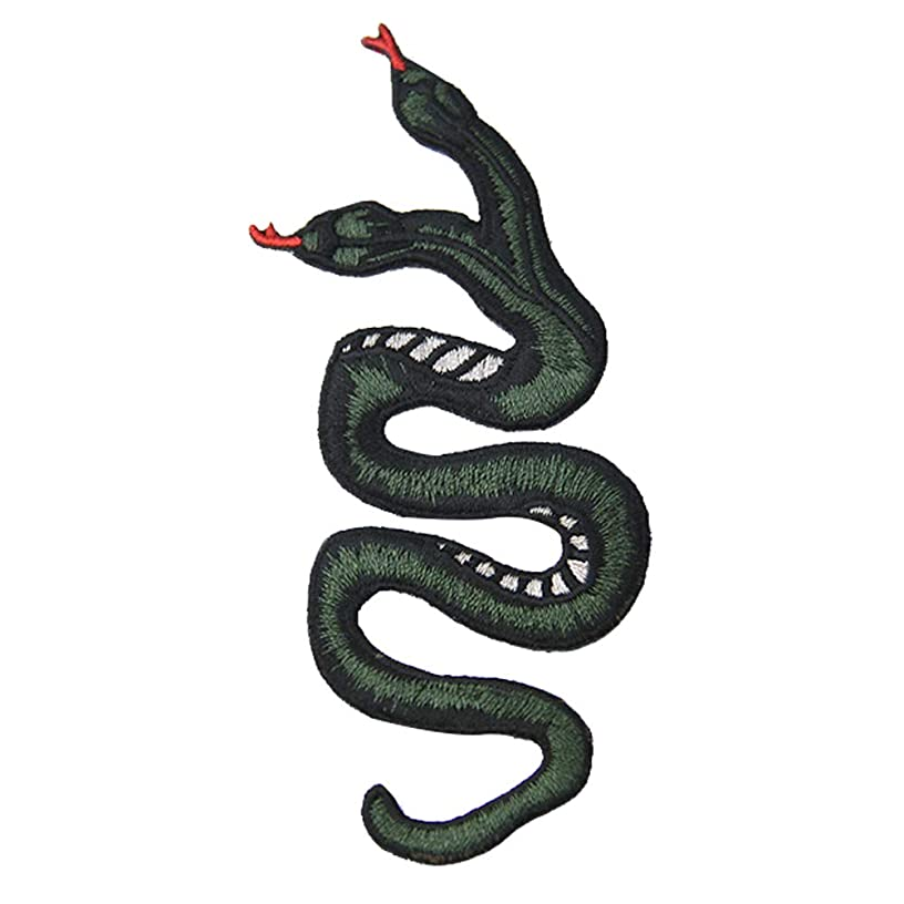 The Double-Headed Snake Patch Embroidered Applique Badge Iron On Sew On Emblem
