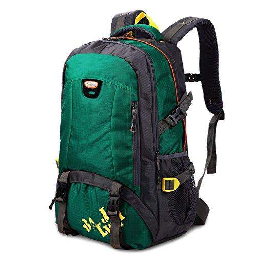 Amos Deportes al Aire Libre Hombros Mochila Paquete de Camping Camping Paquete de Viaje de Gran Capacidad 40L Hombres y Mujeres (Color : Verde Oscuro)