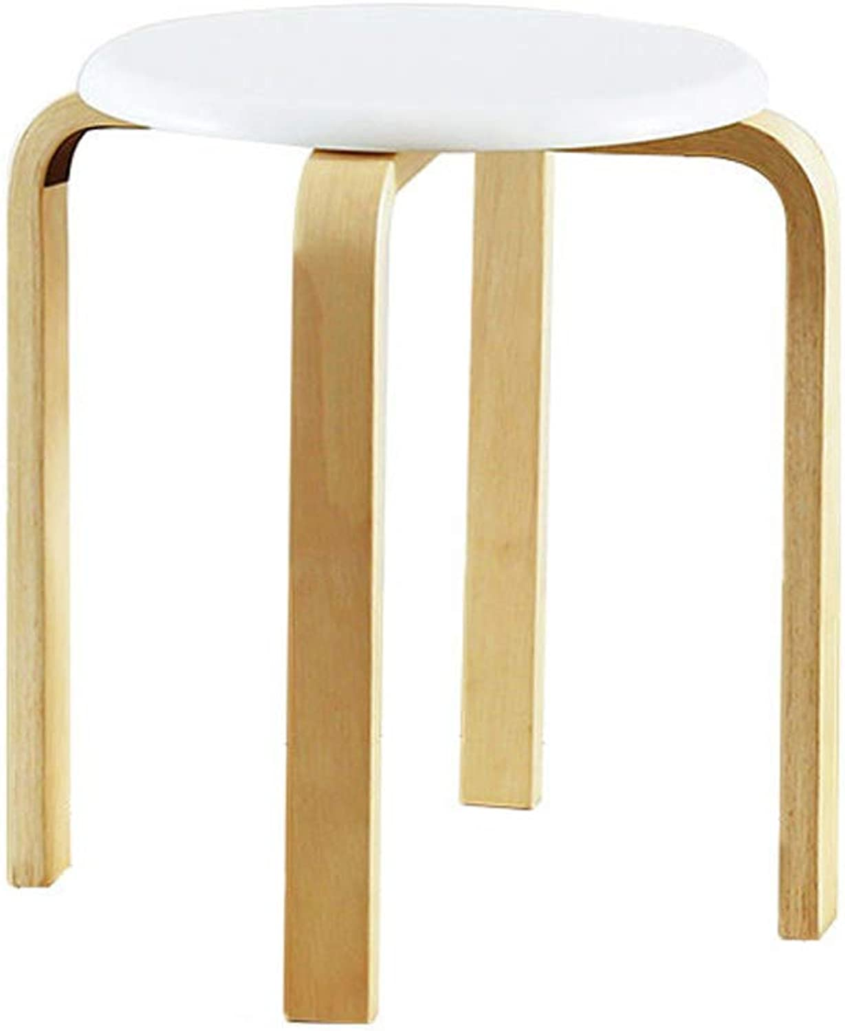 Lxn Modern Minimalist Solid Wood Stool Fashion Creative Stool Home Adult Small Bench - Stackable - 1PCS