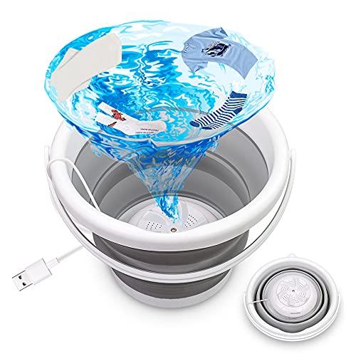 Mini lavatrice, lavatrice portatile a ultrasuoni Pieghevole vasca da bagno con lavanderia USB, automatico mini turbina rondella piccola rondella per la casa di viaggio campeggio appartamenti