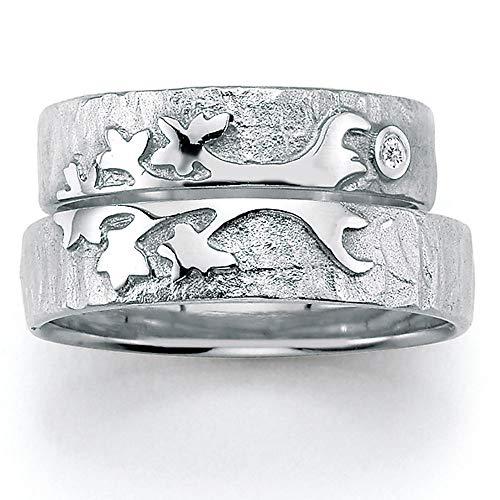 CORE by Schumann Design Trauringe/Eheringe aus 925 Silber Sterlingsilber mit echten Diamanten GRATIS Testringservice & Gravur TREE OF LIFE