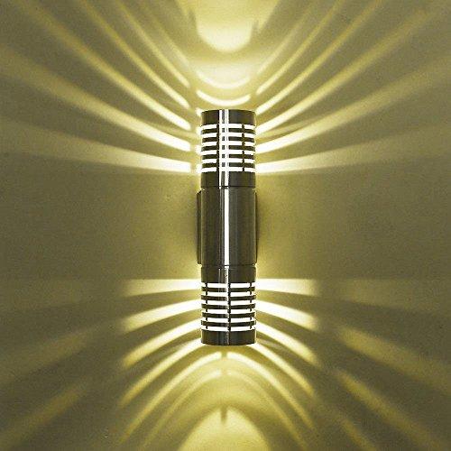 Moderne LED Outdoor Up & Down Wand-Licht Sconce IP43 Außenveranda Patio Garten Wandleuchte im Freien Lampen Lampenbefestigung (Licht Warmes Weiß)