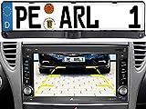 Lescars Kennzeichen Kamera: Rückfahrkamera & Einparkhilfe mit Abstandswarner, Nummernschildhalter (Rückfahrkamera mit Abstandsmessung)