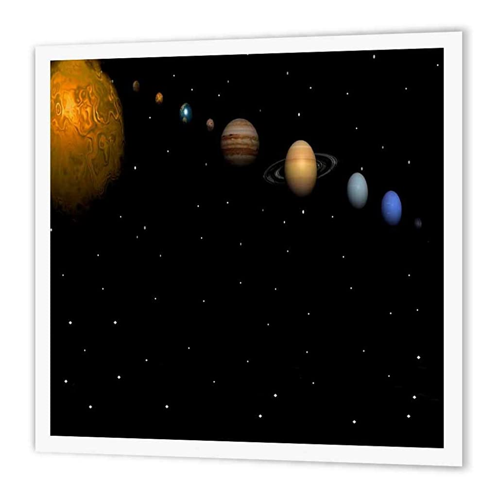 3dRose ht_40282_3 Alignment of Our Solar System-Iron on Heat Transfer Paper for White Material, 10 by 10-Inch