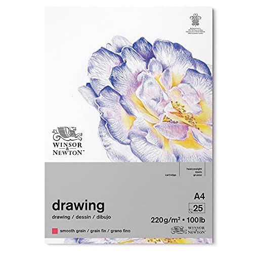 Winsor & Newton 6689741 Zeichenpapier, natürliches Weiß, A4-25 Blatt Block