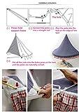 Hayisugal Betthimmel für Kinder Babys Bett Kuppel Hängende Moskiton für Schlafzimmer Kinderzimmer Spielzelte Deko…, Weiß+Quaste+Chiffon, L/145 * 70cm - 7