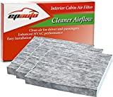 3 Pack - EPAuto CP134 (CF10134) Premium Cabin Air Filter includes Activated Carbon