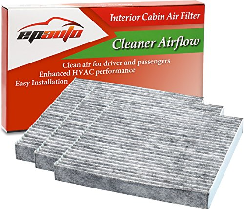 3 Pack - EPAuto CP134 (CF10134) Replacement for Honda & Acura Premium Cabin Air Filter includes Activated Carbon
