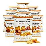 Supplify Protein Chips (Thai Sweet Chili, Vegan) - Eiweiß Snack zum Abnehmen oder Muskelaufbau - die leckere Alternative zu Protein-Pulver oder -Riegel (12x50g)