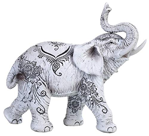 "88246 White Thai Elephant 7"" high Home Decor Statue Figurine"