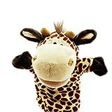 Isuper Marionetas de Mano,Peluche de Mano,Juquete Felpa de Mano de Dedo Diseño de Animal Lindo Peluche para bebé(Jirafa)