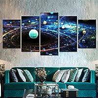 5枚パネル アートモジュラーポスターHdプリントモダンキャンバス5パネル広大な宇宙空間絵画壁リビングルームの写真家の装飾 フレームなし