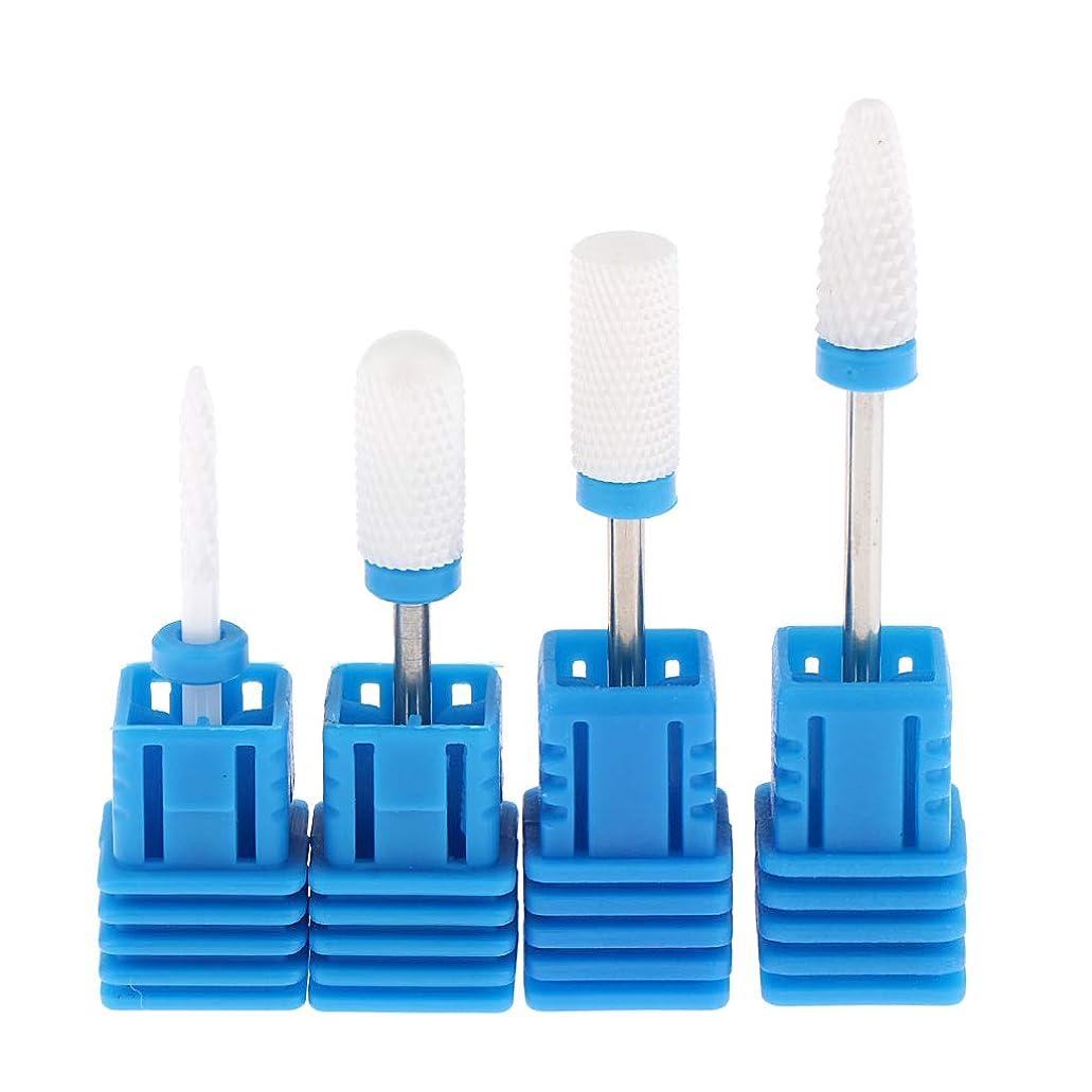 アルファベット拘束する応援するP Prettyia Portable Nail Drill Bits Nail Grinding Heads Nail Gel Polishing Tool for Nail Art Polish Care