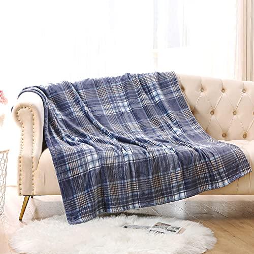 MERRYLIFE Überwurfdecke für Couch, weich, dekorativ, ultraplüschig, bunt, Überwurfgröße, Reisedecke, Plüsch, (127 cm, 152,4 cm, marineblau)