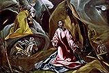 The Agony in the Garden El Greco 1590 1600 b1511 A3 Canvas - Estirado, listo para colgar (16/12 inch)(41/31 cm) - Película Decoración de pared Arte Actor Actriz Regalo Anime Auto Cinema Room Decorac