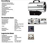 Einhell Heißluftgenerator HGG 110/1 Niro (DE/AT) (Heizmantel aus verzinktem Stahlblech, Gehäuse aus Nirostablech, Piezozündung, Rückbrandsicherung) - 8