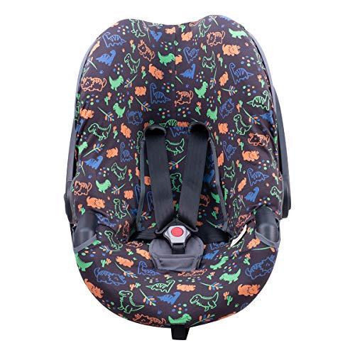JANABEBE Funda para silla de auto BeSafe iZi Go (Happy Dino)