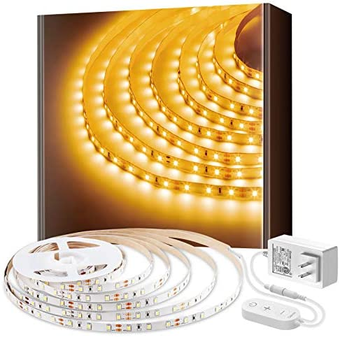 Govee White LED Strip Lights, Upgraded 16.4ft Dimmable LED Light Strip 6500K Bright Daylight White, Strong Adhesive, 300 LEDs Flexible Tape Lights for Mirror, Kitchen Cabinet, Bedroom