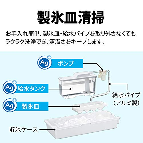 シャープSHARPプラズマクラスター冷蔵庫どっちもドア(両開き・鋼鈑タイプ)幅60.0cmスリムタイプ412L5ドアシルバーSJ-W412F-S