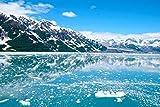 NIUZIMU Malen nach Zahlen Kits mit Pinseln und Acrylpigment DIY Leinwandmalerei für Erwachsene Anfänger Gletscher