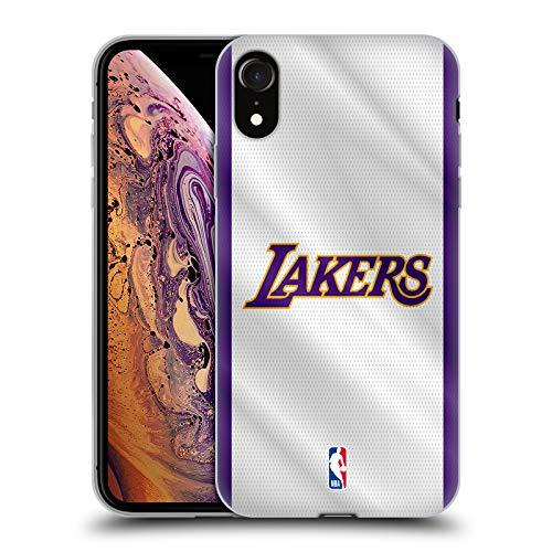 Head Case Designs Oficial NBA Jersey Los Angeles Lakers Carcasa de Gel de Silicona Compatible con Apple iPhone XR