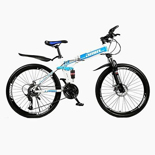 CHHD Bicicleta de montaña Plegable para Adultos Bicicleta de montaña de Velocidad Variable Todoterreno de 26 Pulgadas, 21 velocidades/24 velocidades/27 velocidades
