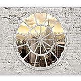 murando Fotomurales Ciudad 350x256 cm XXL Papel pintado tejido no tejido Decoración de Pared decorativos Murales moderna Diseno Fotográfico New York ladrillo Nueva York a d-a-0008-a-b