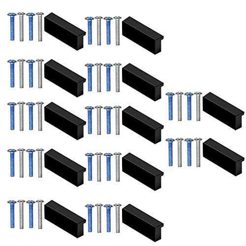 Chstarina muebles Tiradores, 12 Piezas tiradores cocina negro Centro de agujero 32 mm Tornillos incluidos, tiradores puertas para Armario dormitorio bano