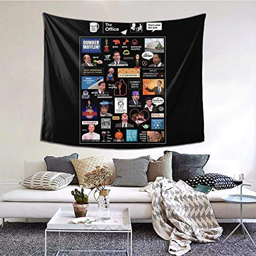 The Office Us Montage Tapiz de pared con arte natural decoraciones para el hogar para sala de estar, dormitorio, decoración de dormitorio, 152,4 x 129,5 cm