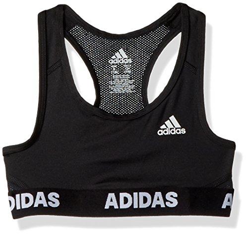Adidas Girls' Big Gym Bra, black ark,M (10/12)