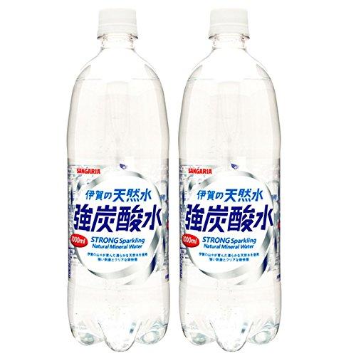 サンガリア伊賀の天然水強炭酸水P1000ml×24本日本サンガリア
