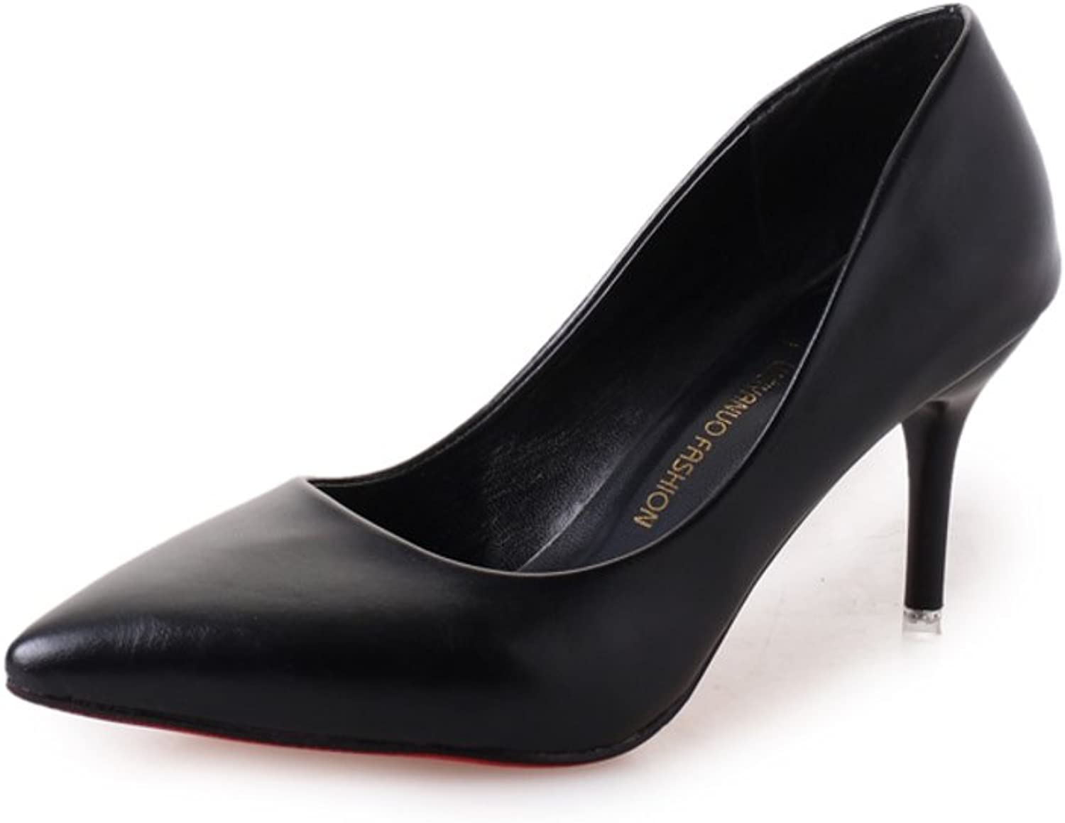 Spring and autumn pointed stilettos Light comfortable work shoes