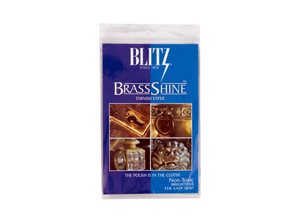 Blitz Brass Tarnish Eater Cloth-Single Ply, Treated, 2 Pack