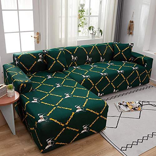 Fsogasilttlv Anti Arañazos Ajustable Protector para Sofá 1 Plaza, Funda de sofá Funda elástica para sofá para Sala de Estar, Funda de sofá Chaise Longue en Forma de L X 90-140 cm