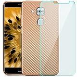 zanasta® Huawei Nova Plus Hülle + Panzerfolie, Premium Schutzhülle Soft Flex Silikon Carbon Case TPU Slim Cover Handyhülle | Metallic Gold