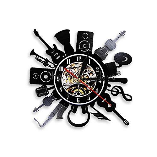 estink nachtlicht 1 instrument musikinstrument thema wanduhr dekorative gitarre LED wand logo rock klassische retro schallplatte uhr dekorative uhr amerikanische tischlampe