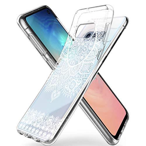 HULI Design Hülle Hülle für Samsung Galaxy S10e Smartphone im Orientalischen Muster weiß - Schutzhülleaus Silikon mit orientalischem Mandala Muster Henna Ornament Traumfänger - Handyhülle mit Druck