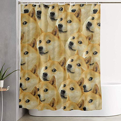 ugongchengyouxi Duschvorhang Doge Meme Shower Curtain Dry-Wet Separation Waterproof Bathing Curtain Durable Bathroom Decor Set Bathroom Hotel Decoration