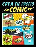 Crea tu propio cómic: 100 originales plantillas de cómics en blanco para adultos,...