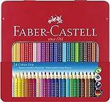 Faber-Castell F112423 112423 - Farbstift Colour Grip Blechetui 24er -